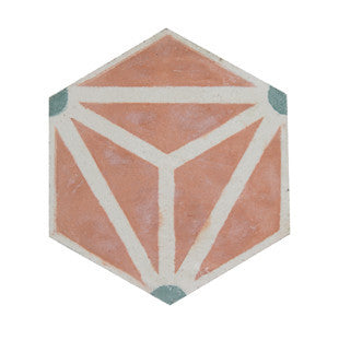 Hirukia 8x8 Hexagon Cement Tile