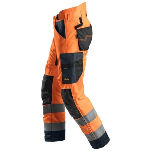 AllRound Work High Vis 37.5 Insulated Trousers CL2 - 6639 - snickers-online
