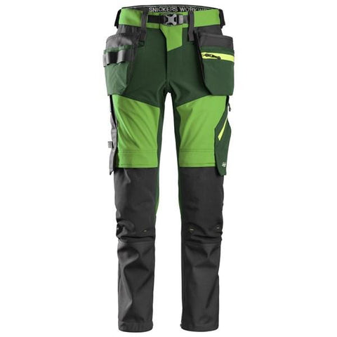 Snickers FlexiWork, Softshell Stretch Trousers with Holster Pockets - 6940