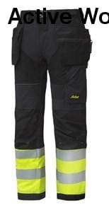 Flexi Work High Vis Work Trousers Holster Pockets Class 1 - 6931 - snickers-online