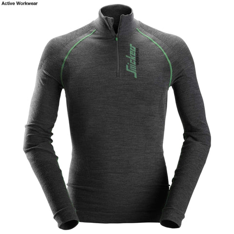 FlexiWork Seamless Wool LS 1/2 Zip Shirt - 9441 - snickers-online