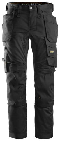 Snickers AllroundWork Stretch Tapered Leg Trousers Holster Pockets - 6241 - Trousers Snickers