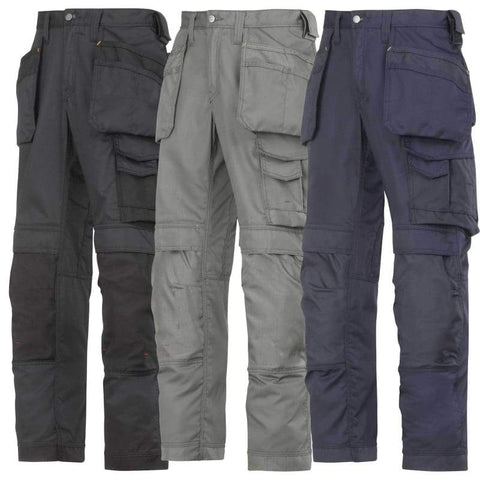 Snickers Lightweight Summer Work Trousers with Kneepad and Holster Pockets-3211 - snickers-online