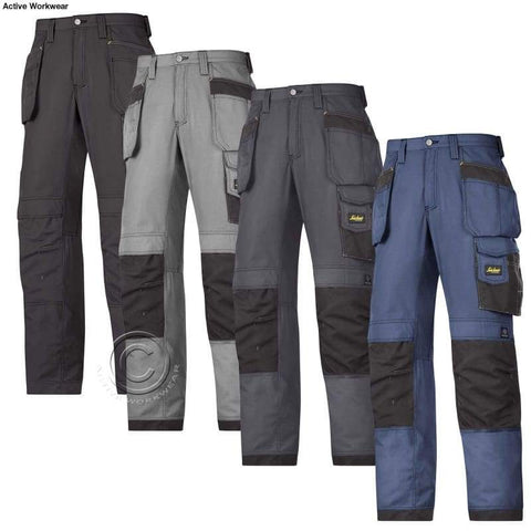 Snickers Rip Stop Cordura Work Trousers with Kneepad & Holster Pockets -3213 - snickers-online