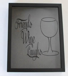 Friends and Wine Cork Shadowbox