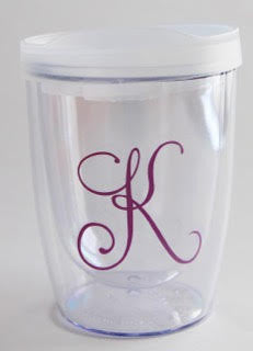 Initial Double Wall Wine Tumbler (10oz)