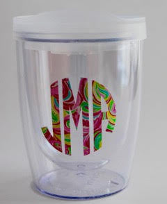 Monogram Double Wall Wine Tumbler (10oz)