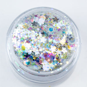 Iridescent Silver Chunky Glitter - Magick