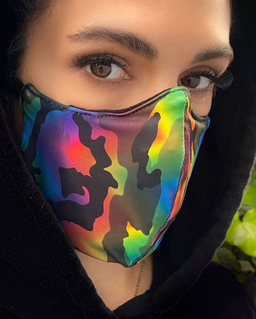 Rainbow Camo Face Mask