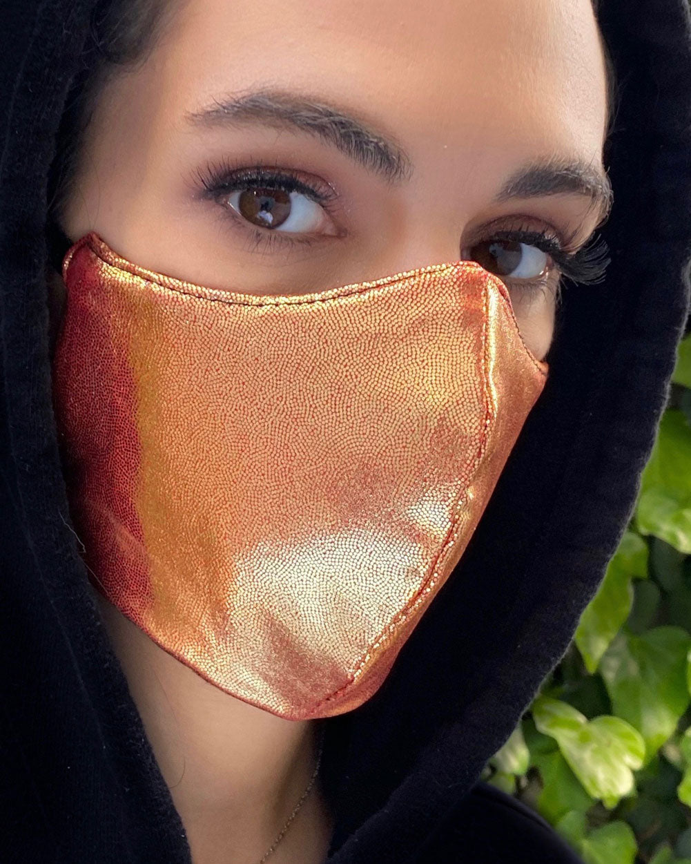 Rose Gold Foil Face Mask
