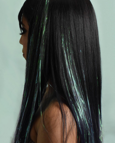 Iridescent Hair Tinsel Clip-Ins - Joy | Lunautics