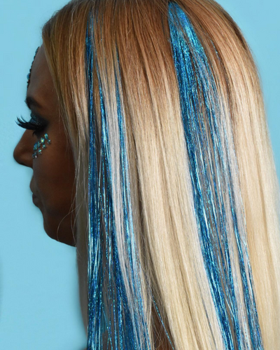Blue Holographic Hair Tinsel - Peace | Lunautics