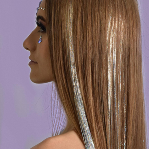 Silver Holographic Hair Tinsel - Power