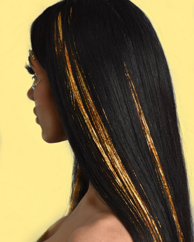 Gold Holographic Hair Tinsel - Success | Lunautics