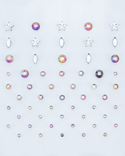 Bella Mini Face Jewel Mix Pack - Iridescent Star, Oval, and Round Face Jewels | Lunautics