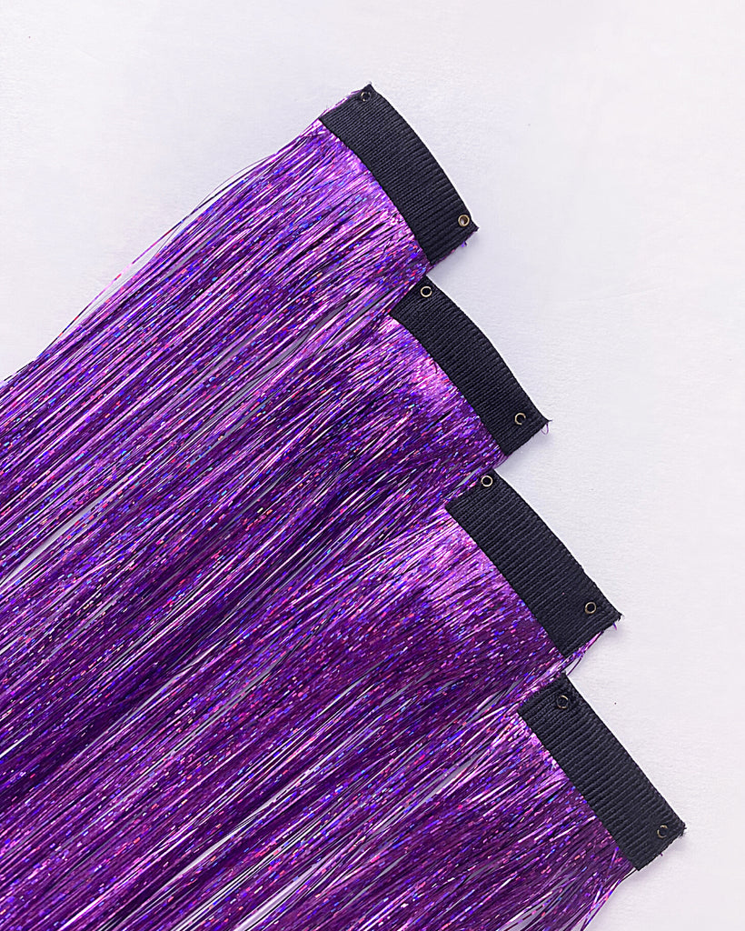 Amethyst Tinsel Hair Extensions