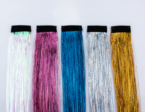 Lunautics | Peace Tinsel Hair Extensions Hair Tinsel