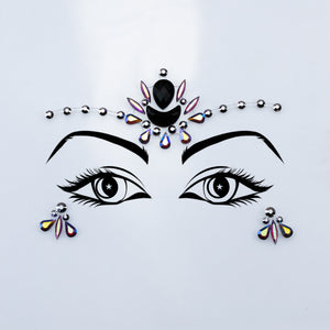 Black and Silver Face Jewel - Power