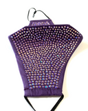 Purple Face Mask with Iridescent Rhinestones - Lunautics
