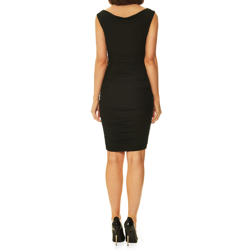 Athena Accented Double Cowl Dress
