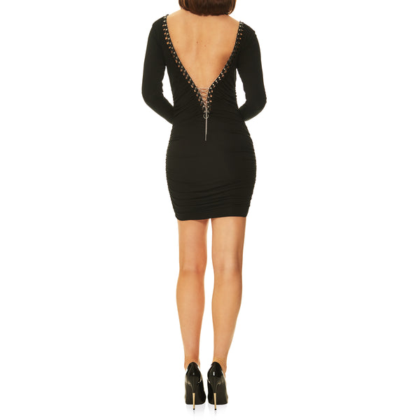 Ishtar Open back Accented Dress
