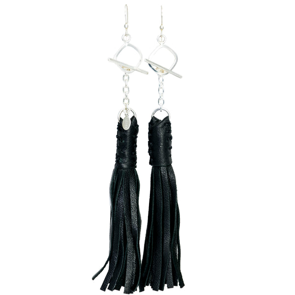 Lalita Leather Tassel Earrings