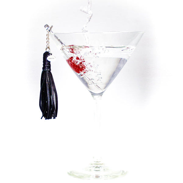 Dirty Martini Pick Leather Tassel