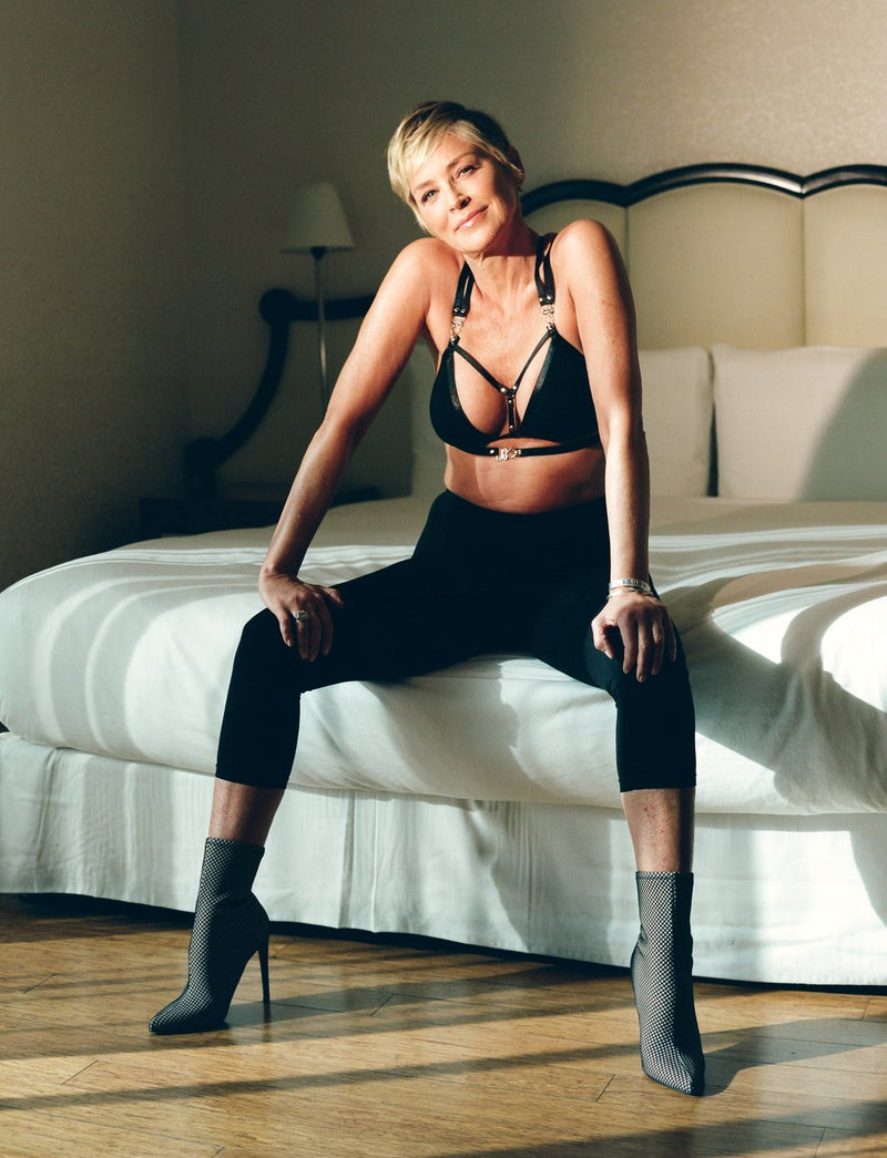 Sharon Stone in Strappy Lalita Bra for the New York Times