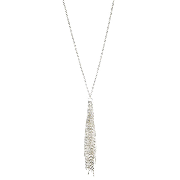 Long Sterling Tassel Necklace