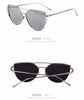 Twin-Beamed Cat Eye Sunglasses