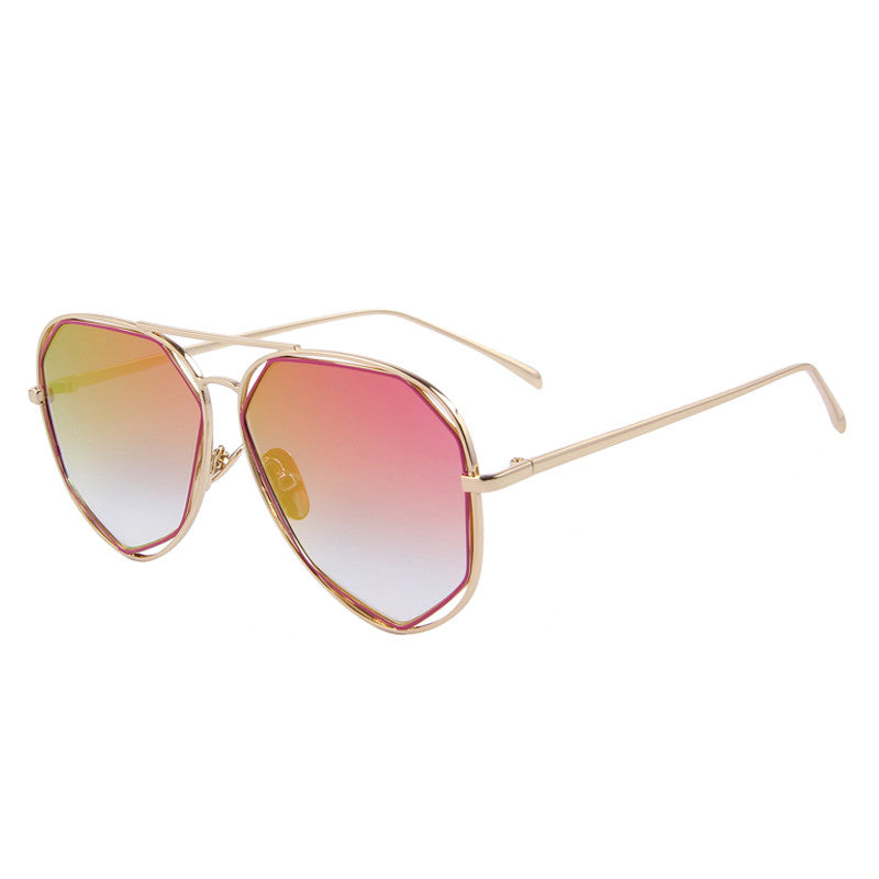 Flat Panel Twin Beamed Aviator Sunglasses
