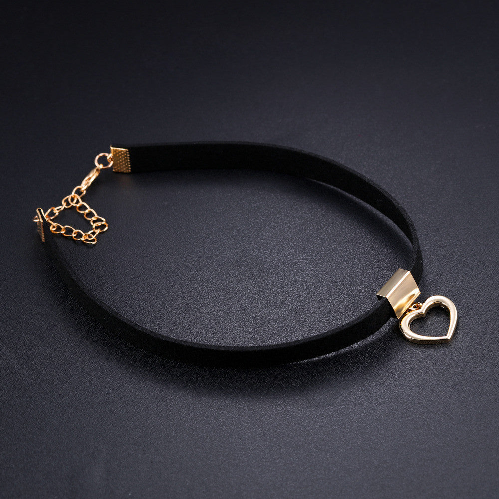 Hollow Heart Choker Necklace