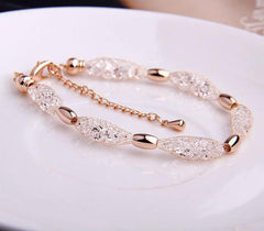 Paloma Rose Gold Crystal Bracelet