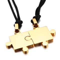 Simple Couple Jigsaw Necklace