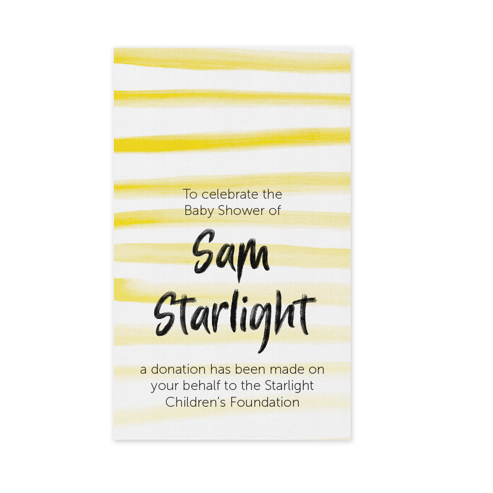 Celebration Bonbonniere Donation Card - Stripes
