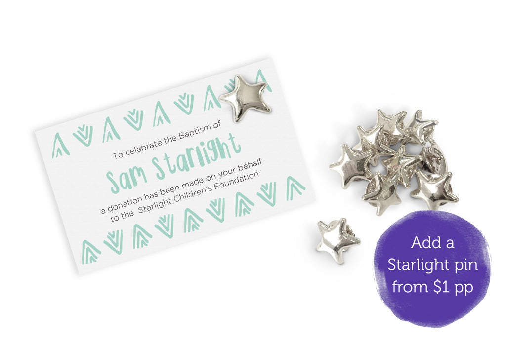 Celebration Bonbonniere Donation Card - Aztec