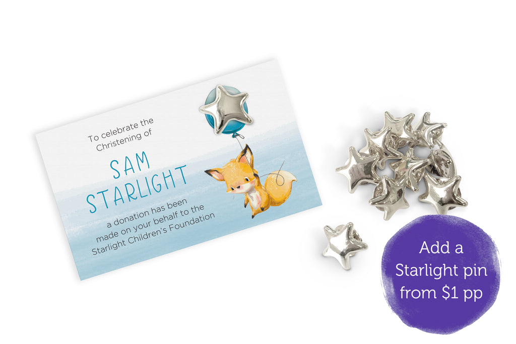 Celebration Bonbonniere Donation Card - Little Fox