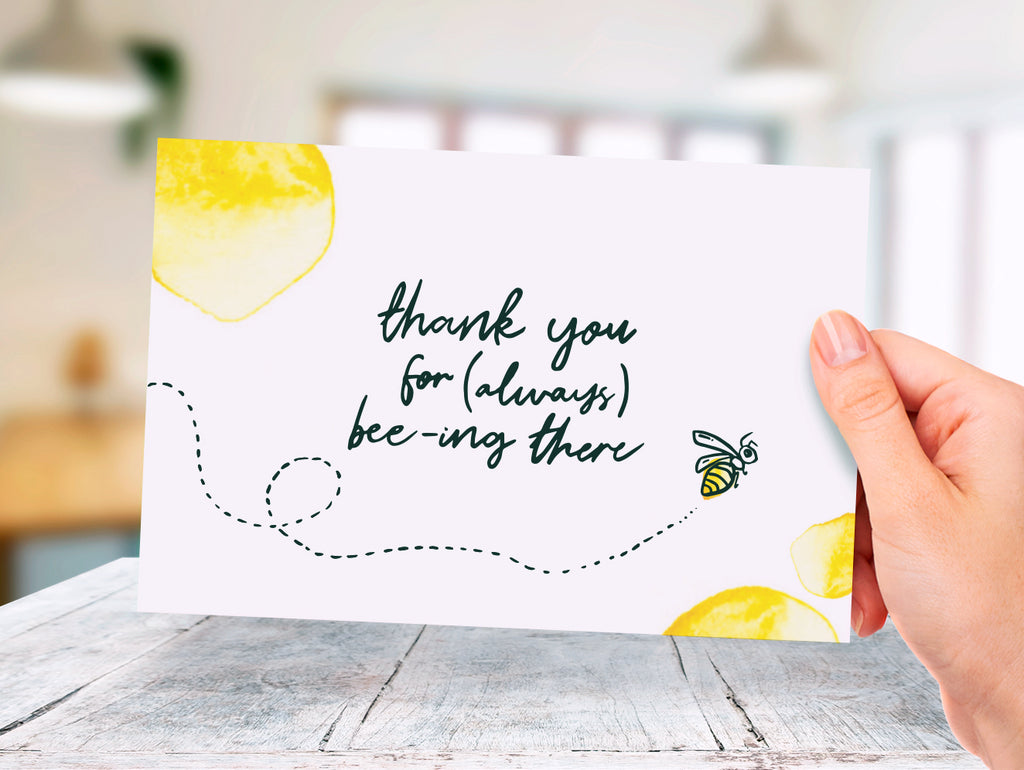 Bees - Thank You - Donation Card