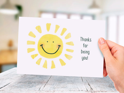 Sunshine - Thank You - Donation Card