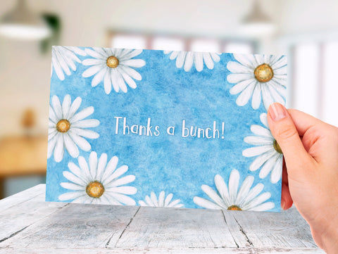 Daisies - Thank You - Donation Card