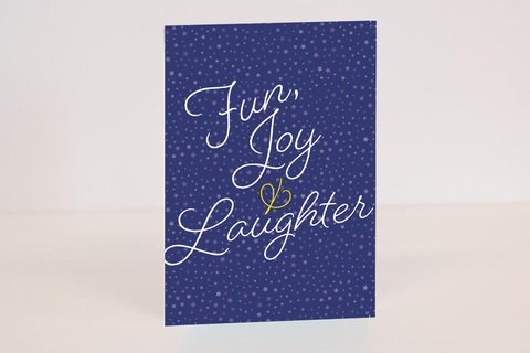 Personalised Printable Starlight Christmas PDF Card