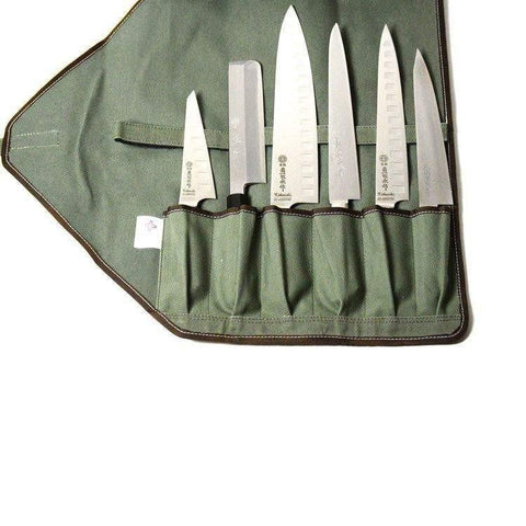 Boldric 6-Pocket Canvas Knife Bag-CW134,The Kitchen's Edge.