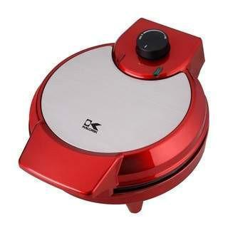 Kalorik Red/Stainless Steel Heart Shaped Waffle Maker-WM 42583 R,The Kitchen's Edge.