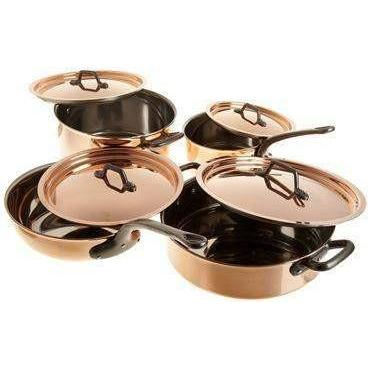Matfer Bourgeat 8-Piece Copper Cookware Set-915901,The Kitchen's Edge.
