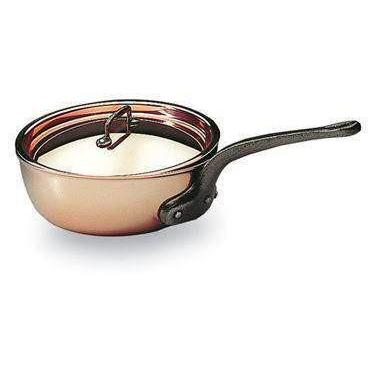 Matfer Bourgeat Copper Flared Saute Pan With Lid-373116,The Kitchen's Edge.