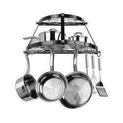 Range Kleen Double Shelf Wall Hanging Pot Rack - Black-CW6002R,The Kitchen's Edge.