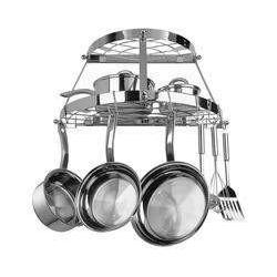 Range Kleen Double Shelf Wall Hanging Pot Rack - Stainless Steel-CW6004R,The Kitchen's Edge.