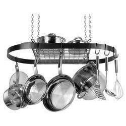 Range Kleen Oval Hanging Pot Rack - Black-CW6000R,The Kitchen's Edge.