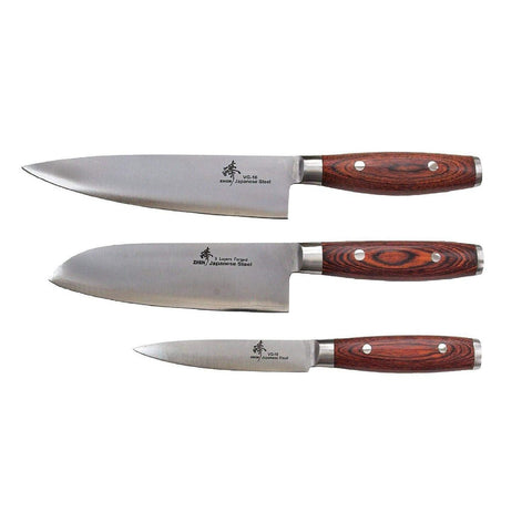 ZHEN Japanese VG-10 3 Layers Forged Steel Cutlery Knife set, 3-Piece-C2C3C4P,The Kitchen's Edge.