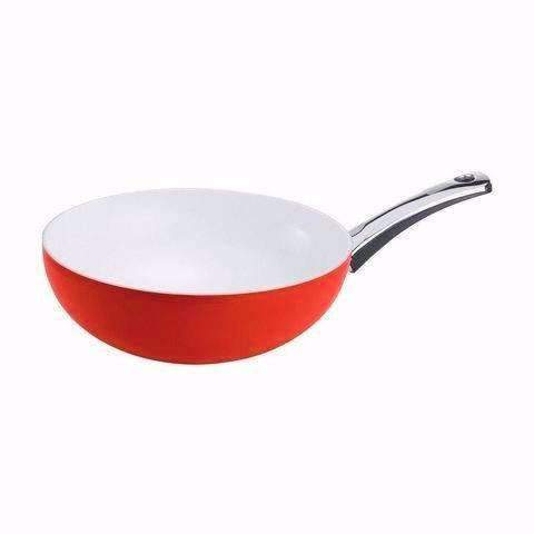 Berndes Pearl Wok With Red Exterior-079609,The Kitchen's Edge.